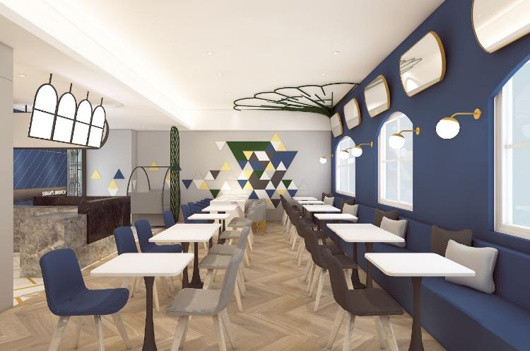 浪漫色彩簡餐店 現代風 #餐廳設計 #跳色 #室內設計 #Interiordesign