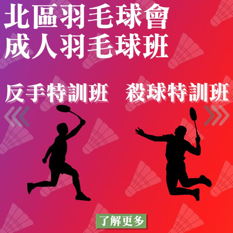 成人羽毛球班(單打、雙打、反手、攻防特訓班)|北區羽毛球會|香港羽毛球總會地區屬會