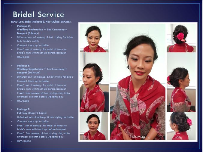 Wedding makeup and hair styling package