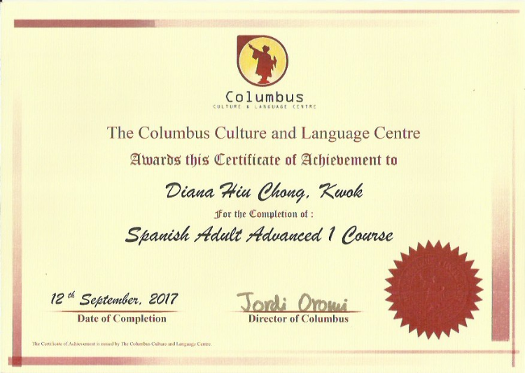 Columbus Spanish Adult Advanced 1 Course 2017