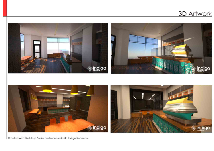 Coffee shop concept interior design