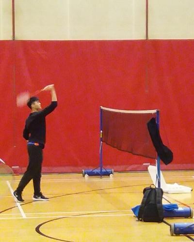 羽毛球教練張教練